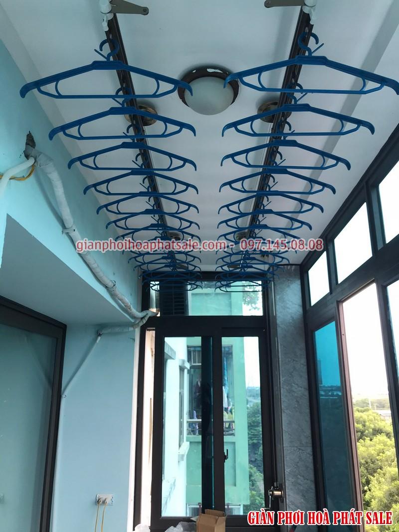giàn phơi chung cư có thiết kế nhỏ gọn, dễ dàng lắp ở không gian chật hẹp