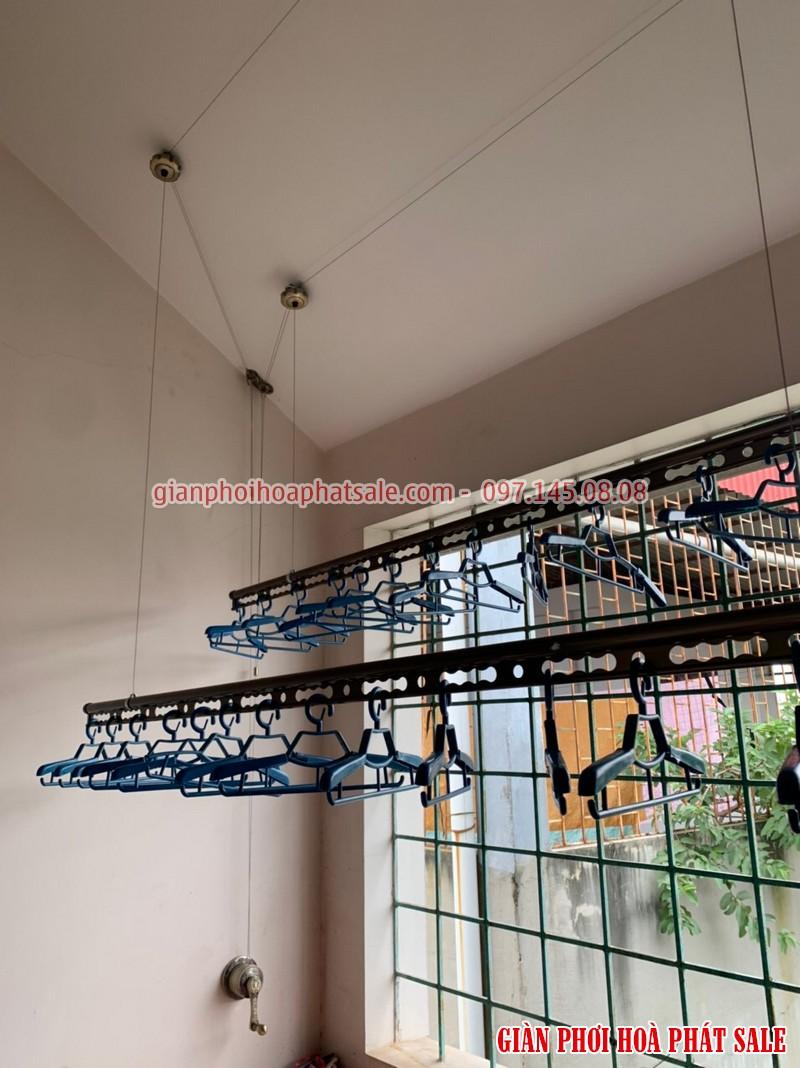 Hình ảnh lắp giàn phơi tại Vĩnh Yên, Vĩnh Phúc nhà chị Thêu: mẫu Hòa Phát HP 300 - 01