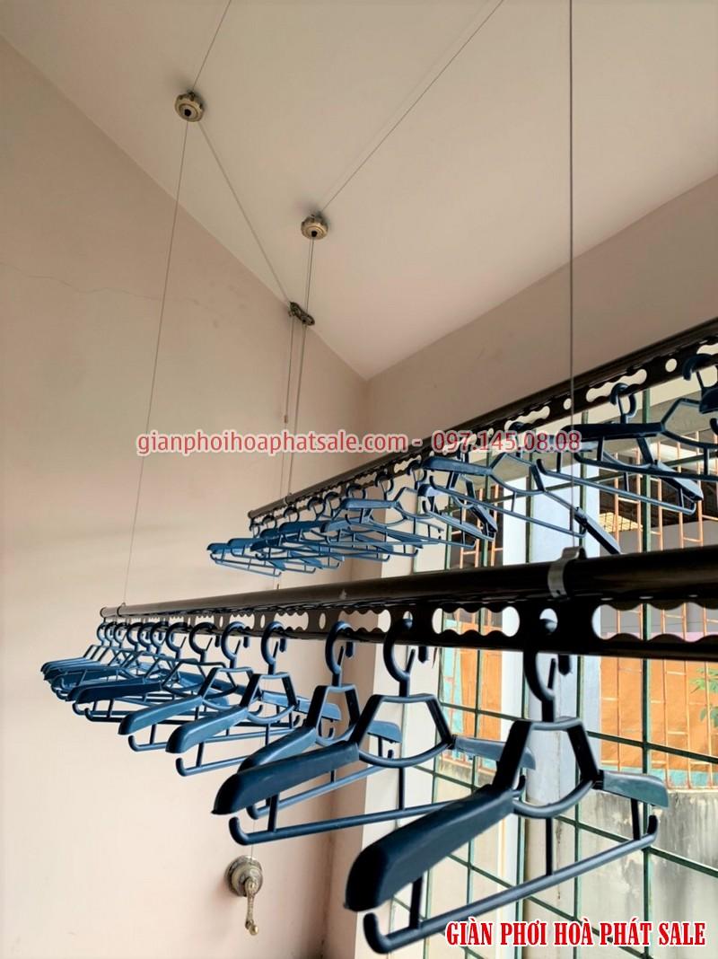 Hình ảnh lắp giàn phơi tại Vĩnh Yên, Vĩnh Phúc nhà chị Thêu: mẫu Hòa Phát HP 300 - 02