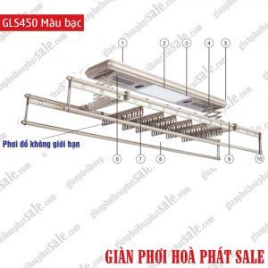 Giàn phơi điện tử điều khiển GLS450