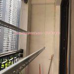 Lắp giàn phơi Hòa Phát tại Vinhomes Smart city nhà chị Thảo, tòa S2.02