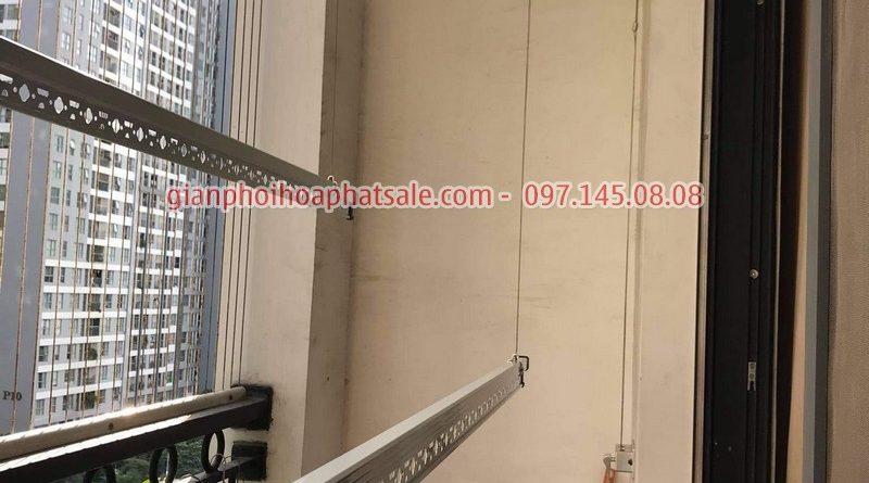 Hình ảnh lắp giàn phơi tại Vinhomes smart ciy mẫu HP999B nhà chị Thảo - 05