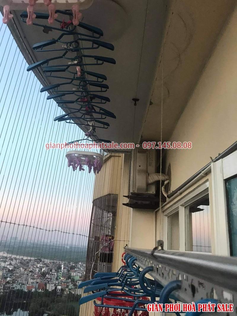 Sửa giàn phơi Thanh Trì: thay dâu cáp giàn phơi giá rẻ tại nhà chị Hồng, chung cư 70 Thanh Đàm - 03
