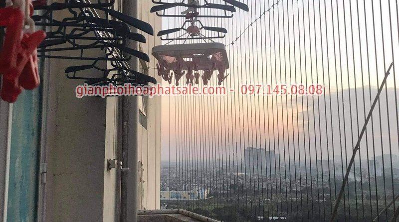 Sửa giàn phơi Thanh Trì: thay dâu cáp giàn phơi giá rẻ tại nhà chị Hồng, chung cư 70 Thanh Đàm - 07