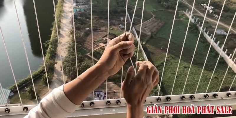 Dây cáp inox bọc nhựa của lưới an toàn