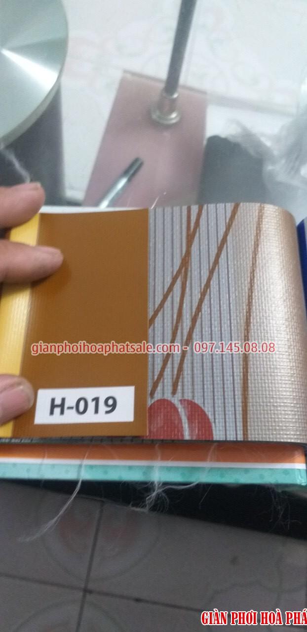 Bạt che nắng mã H019 1 mặt màu cam, 1 mặt hoa văn nền cam nhẹ