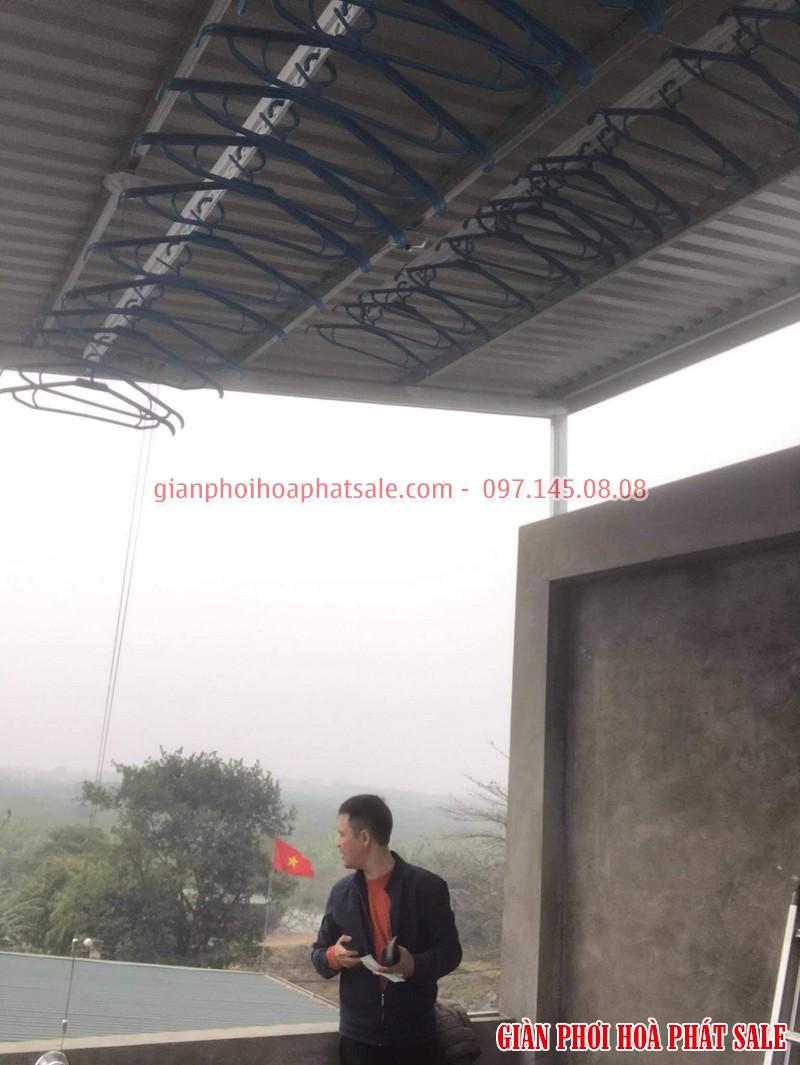 Lắp giàn phơi quần áo Long Biên, bộ HP701 tại Cự Khối nhà anh Khánh - 03