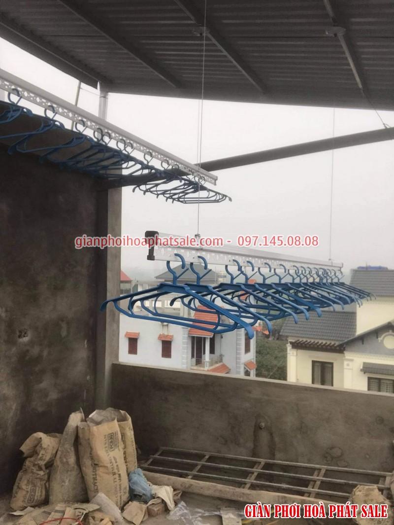 Lắp giàn phơi quần áo Long Biên, bộ HP701 tại Cự Khối nhà anh Khánh - 04