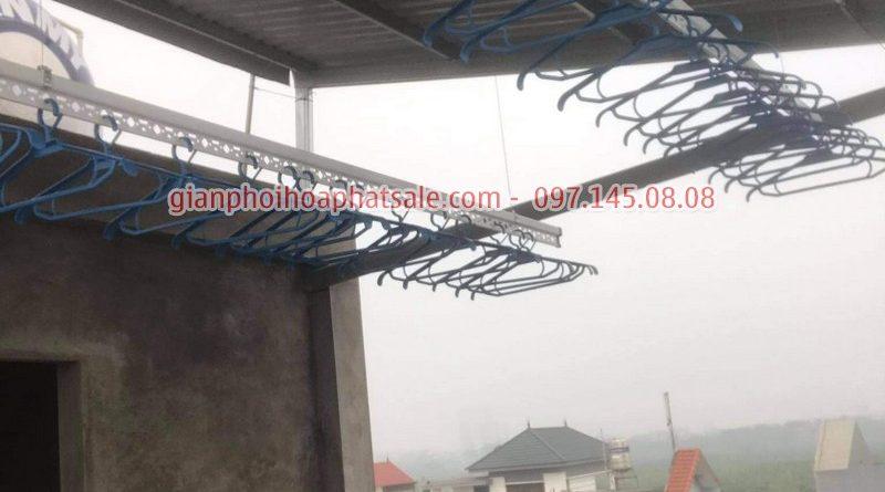 Lắp giàn phơi quần áo Long Biên, bộ HP701 tại Cự Khối nhà anh Khánh - 07