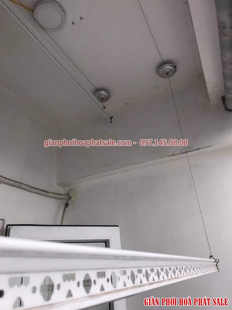 Sửa giàn phơi quần áo tại Long Biên: thay dây, thay củ quay tại chung cư K33 Bộ Quốc Phòng - 01