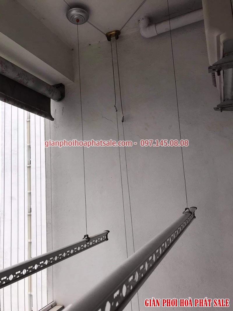 Sửa giàn phơi quần áo tại Long Biên: thay dây, thay củ quay tại chung cư K33 Bộ Quốc Phòng - 04