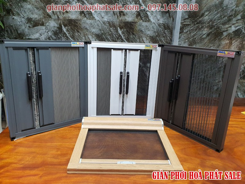 Mẫu cửa lưới chống muỗi tự cuốn (mẫu để nằm ngang dưới sàn)