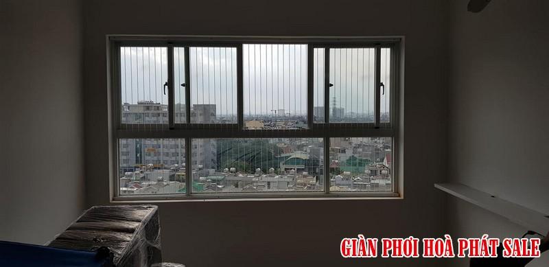 Lưới an toàn cửa sổ cấu tạo gồm khung nhôm định hình và cáp lụa inox