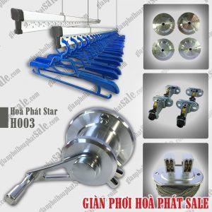 Giàn phơi Hoà Phát H003 màu bạc - Thông dụng, Hot sale
