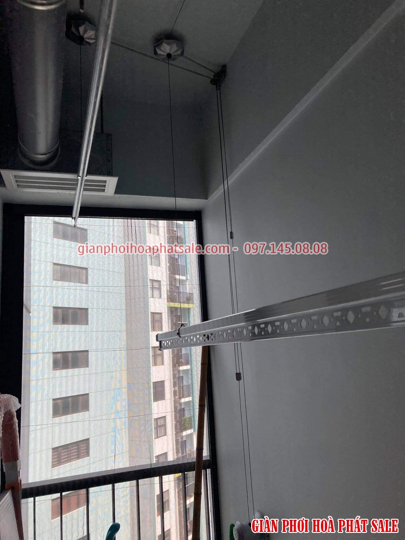 Lắp giàn phơi thông minh ecopark bộ KS950 tại chung cư Sky 1 nhà chị Tảo - 01