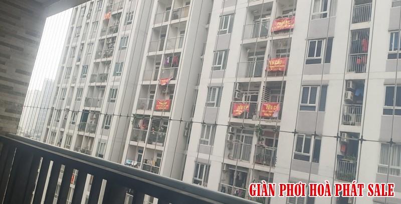 Hình ảnh lưới an toàn ban công lắp tại chung cư 60b Nguyễn Huy Tưởng nhà chú Kiên - 02