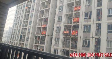 Hình ảnh lưới an toàn ban công lắp tại chung cư 60B Nguyễn Huy Tưởng