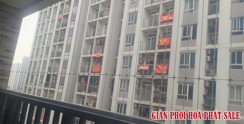 Hình ảnh lưới an toàn ban công lắp tại chung cư 60b Nguyễn Huy Tưởng nhà chú Kiên - 01