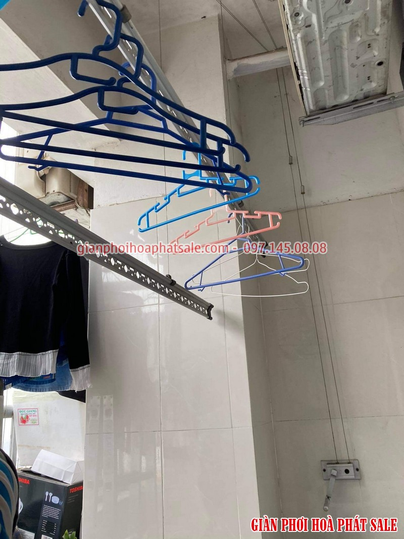 Sửa giàn phơi quần áo tại Hoàng Mai: thay dây cáp ở chung cư VP5 Linh Đàm - 05