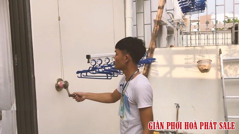 giàn phơi thông minh cho chung cư bộ Hòa Phát H009