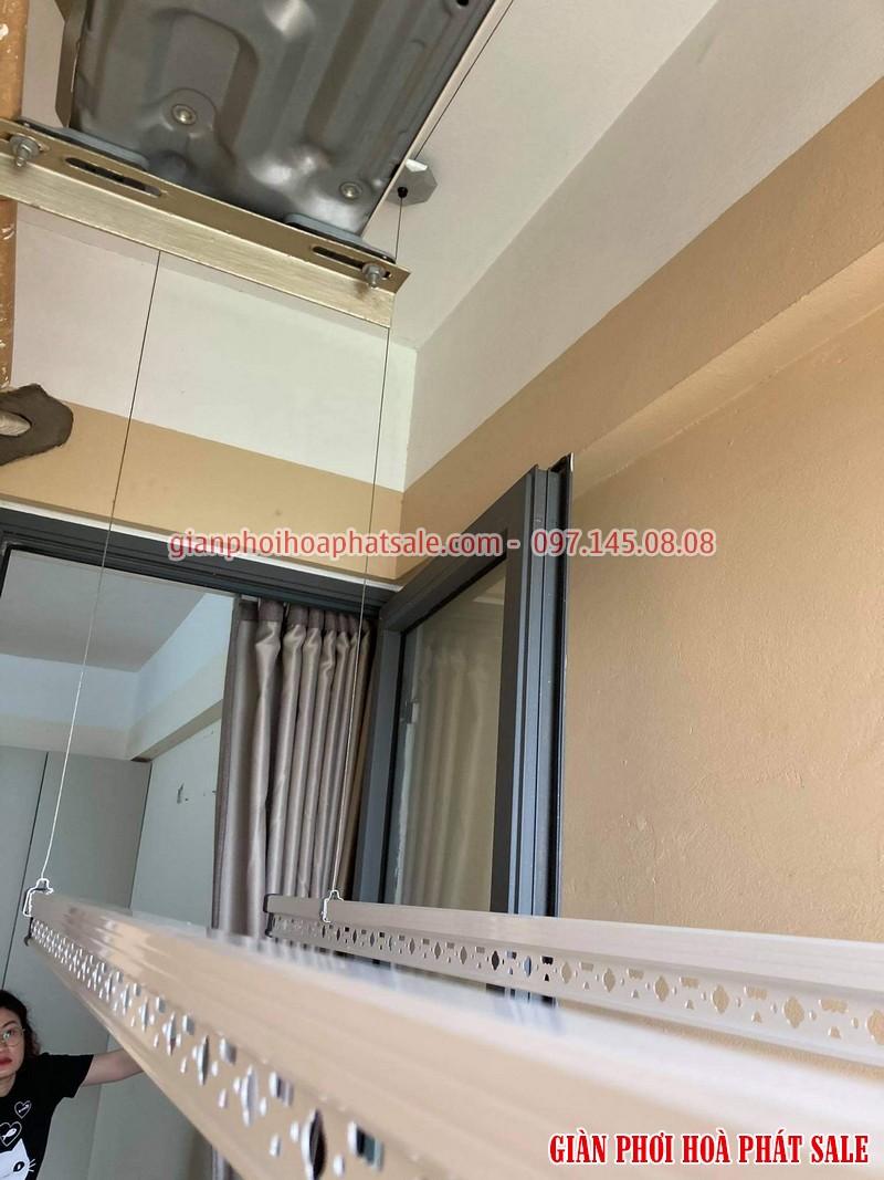 Lắp giàn phơi thông minh cho chung cư nhà chị Mai, CT36 Định Công - 02