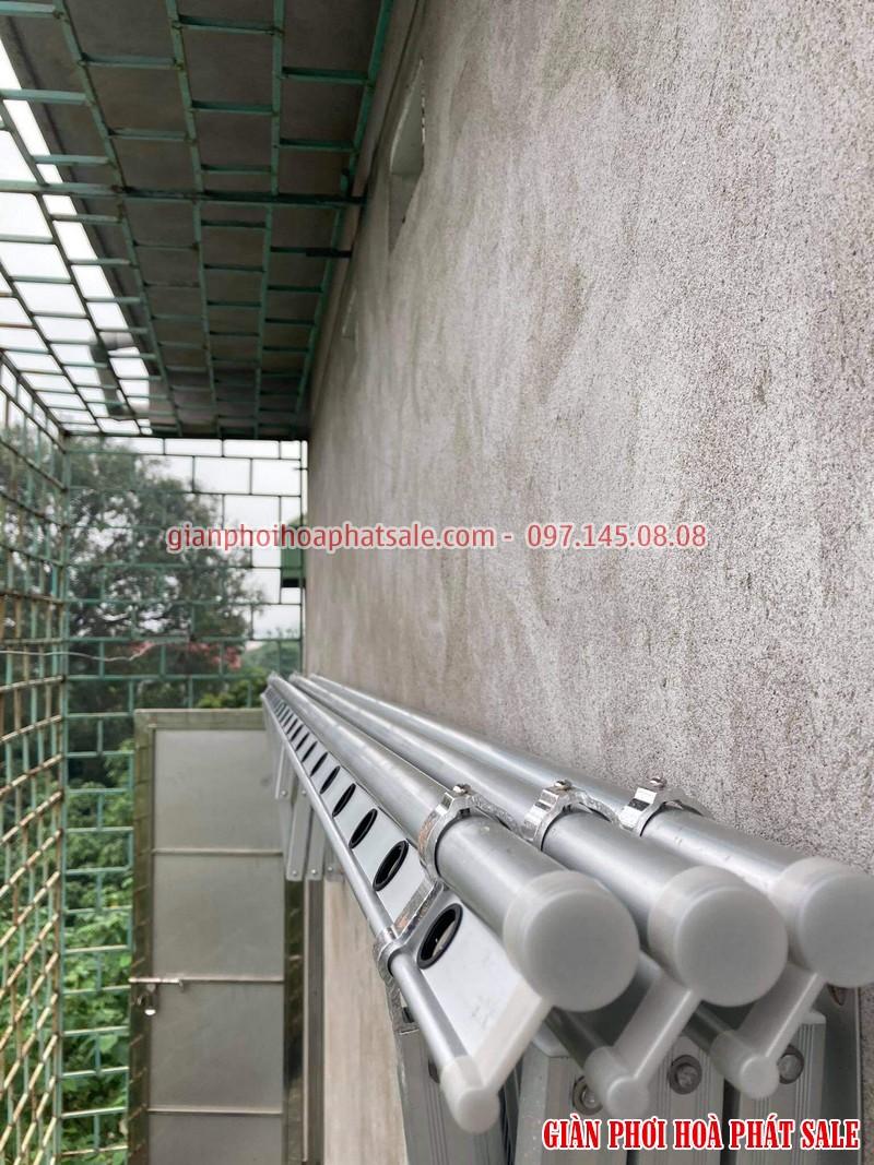Hình ảnh giàn phơi xếp ngang Hòa Phát 68A lắp tại Gia Lâm nhà chị Liêm - 02