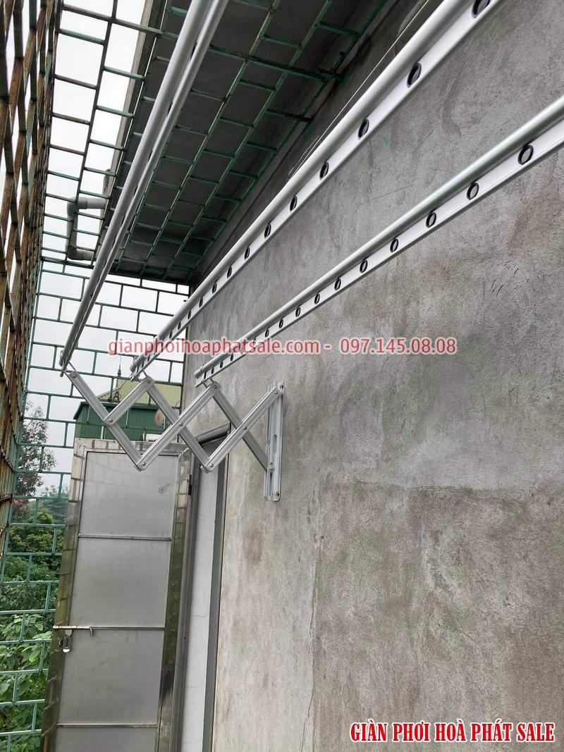 Hình ảnh giàn phơi xếp ngang Hòa Phát 68A lắp tại Gia Lâm nhà chị Liêm - 03