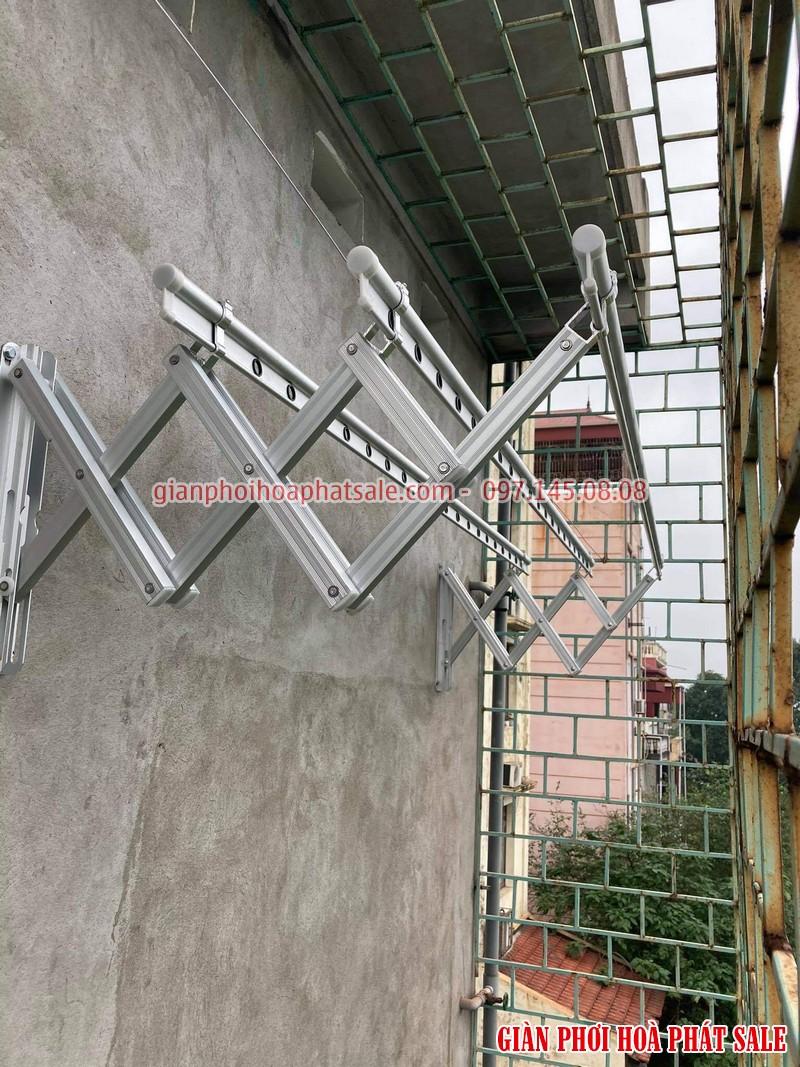 Hình ảnh giàn phơi xếp ngang Hòa Phát 68A lắp tại Gia Lâm nhà chị Liêm - 04
