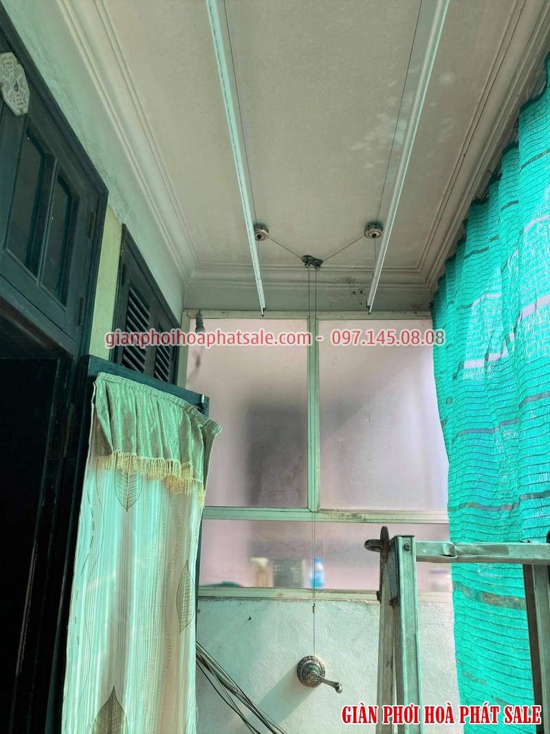 Ảnh thực tế lắp giàn phơi Hòa Phát HP300 nhà chị Hiền, 319 phố Huế