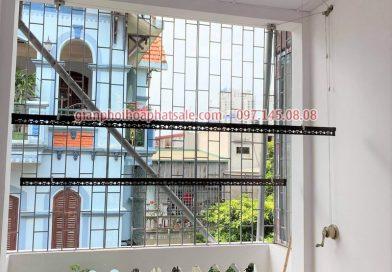 Lắp giàn phơi thông minh quận 12 tại nhà chị Chi, đường Tô Ký