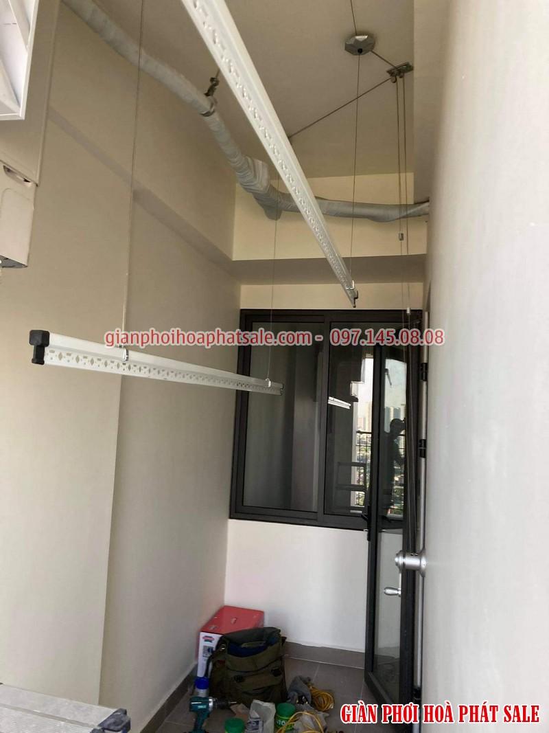 Lắp giàn phơi thông minh quận 7 nhà chị Tươi, chung cư Luxcity - 01