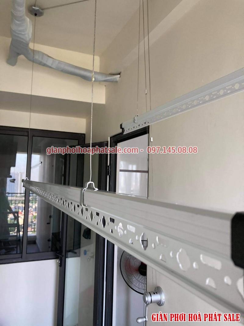 Lắp giàn phơi thông minh quận 7 nhà chị Tươi, chung cư Luxcity - 05