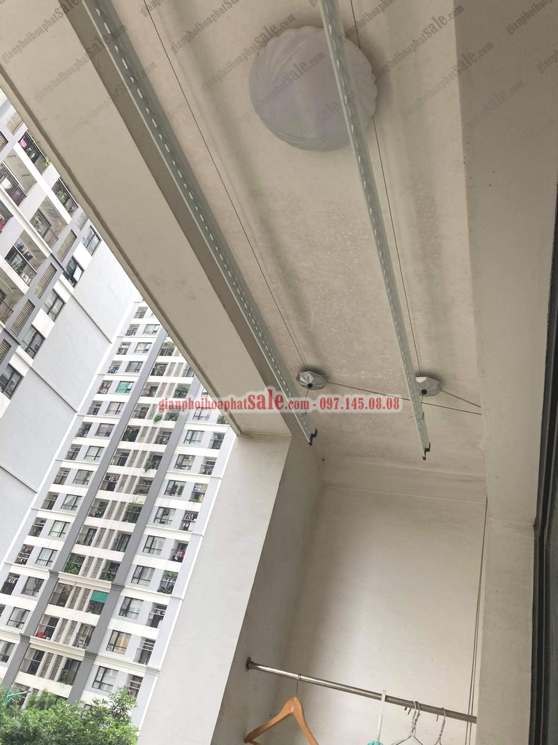 Ảnh thực tế lắp giàn phơi thông minh chung cư Phương Đông Green Park nhà chị Hoa - 04