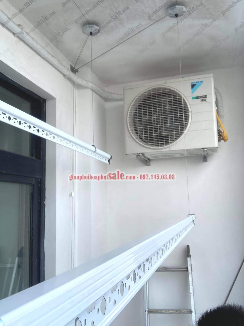 Lắp giàn phơi thông minh và lưới an toàn tại Phương Đông Green Park nhà anh Hà - 02
