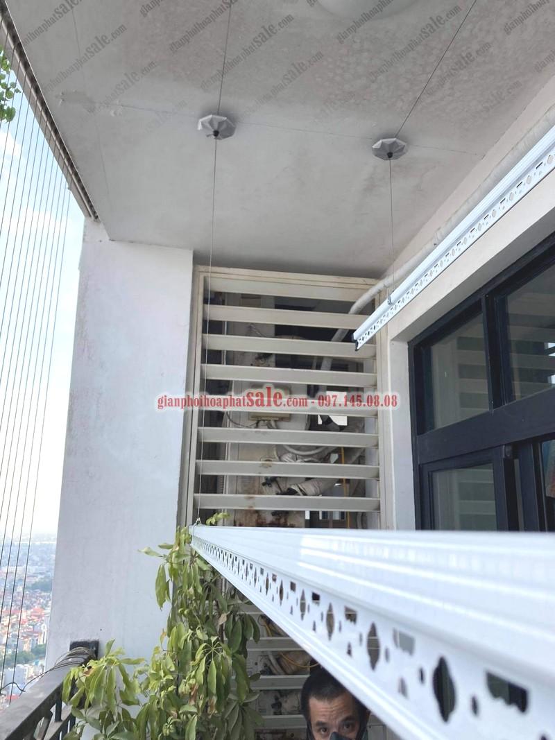 Lắp giàn phơi thông minh và lưới an toàn tại Phương Đông Green Park nhà anh Hà - 04