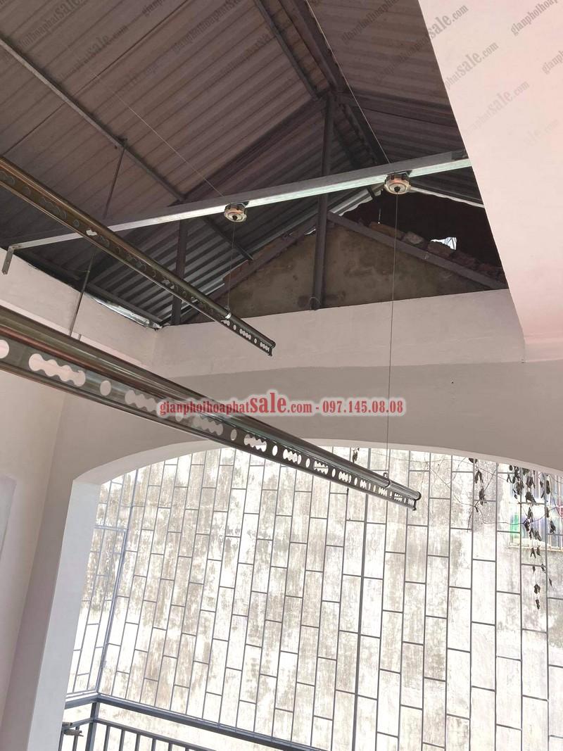 Lắp giàn phơi cho trần mái tôn cao trên 3.5m phải sử dụng thêm thanh gia cố